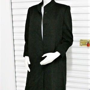 Vtg Harve Bernard Military Collar Wool Pea Coat 14